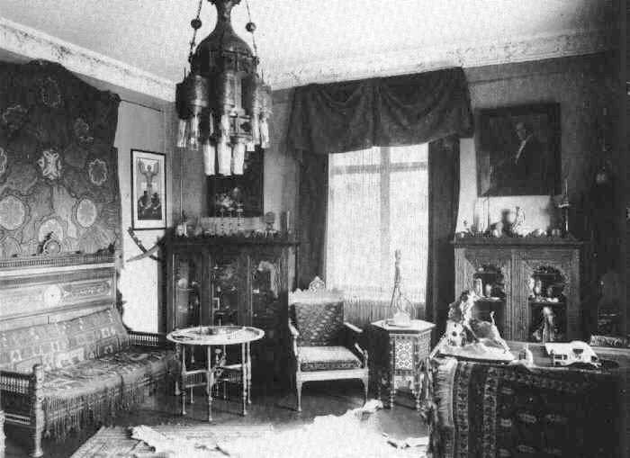[Karl Mays Arbeitszimmer, Ausgestattet Mit Orientalischem Mobiliar ...