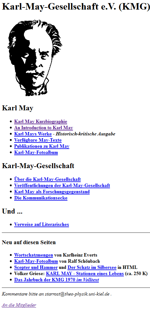 Screenshot der Homepage im November 1995